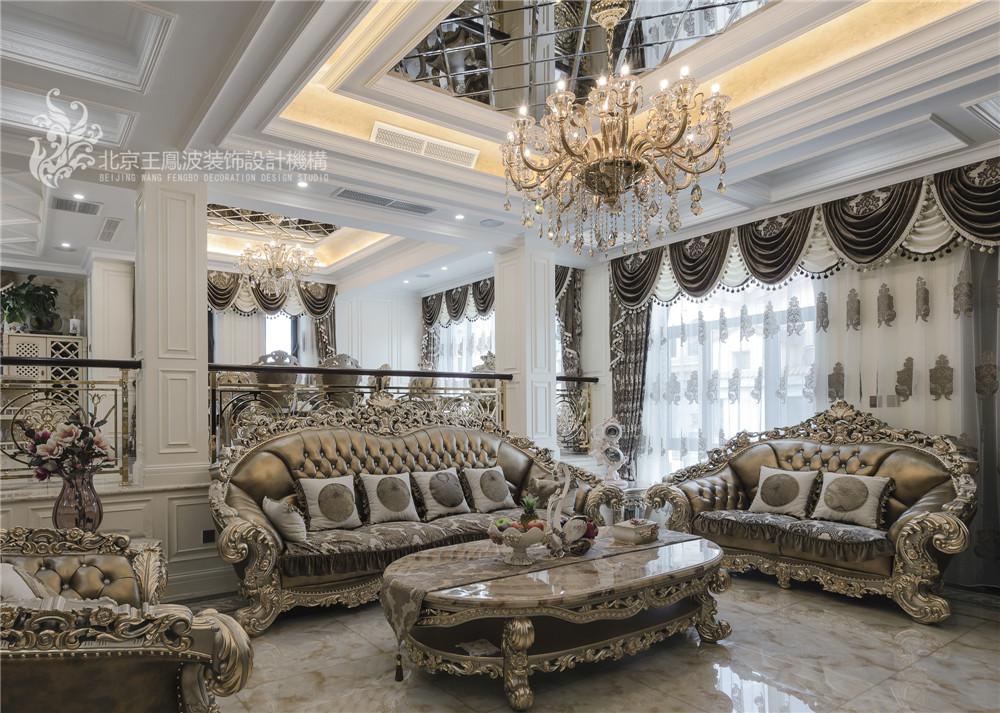 乌兰浩特碧 欧式别墅设 470平 三居 别墅 欧式 客厅图片来自王凤波设计机构在乌兰浩特碧桂园二欧式别墅设计的分享