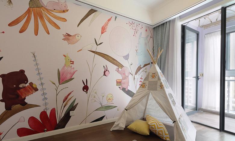 儿童房图片来自家装大管家在心中的星光 108平简欧雅致3居室的分享