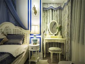 地中海 三居 白领 80后 小资 文艺青年 卧室图片来自高度国际姚吉智在115平米地中海三居相约爱琴海的分享