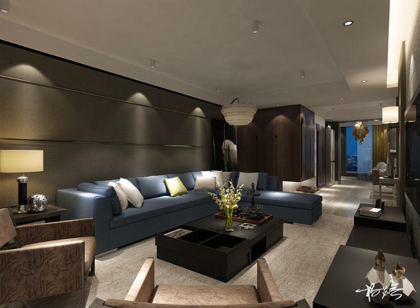 客厅 客厅图片来自石家庄大业美家装饰在大业美家——汇君城200平后现代的分享