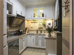 地中海 三居 白领 80后 小资 文艺青年 厨房图片来自高度国际姚吉智在115平米地中海三居相约爱琴海的分享