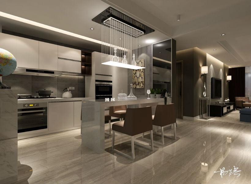 厨房 厨房图片来自石家庄大业美家装饰在大业美家——汇君城200平后现代的分享