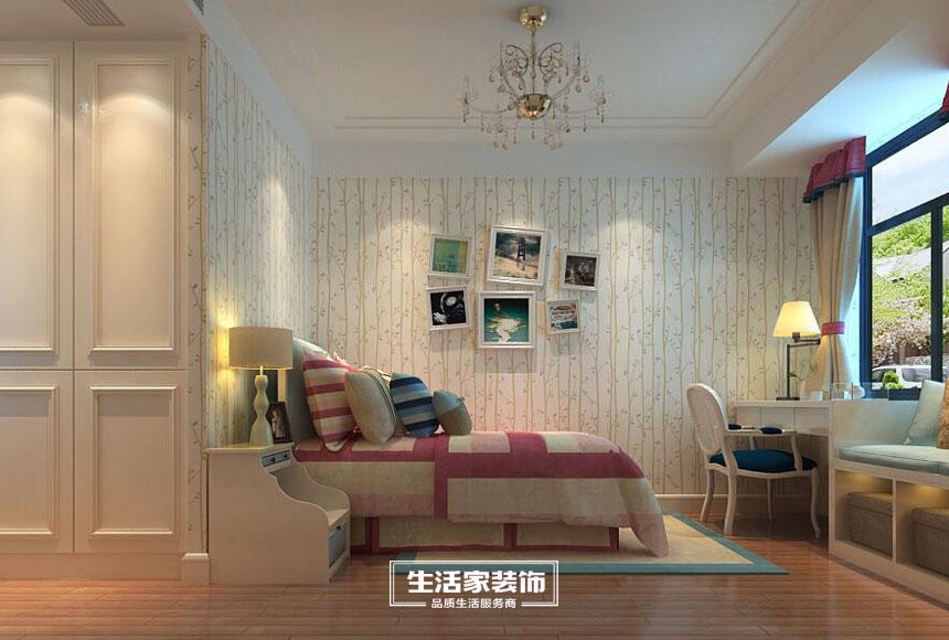 新中式 小资 三居 生活家装饰 装修预算 卧室图片来自合肥生活家装饰许欣在格调高雅148平新中式风格的分享