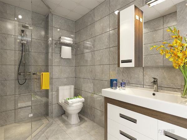 本次设计风格为现代简约凌福郡庭两室一厅一卫69㎡。