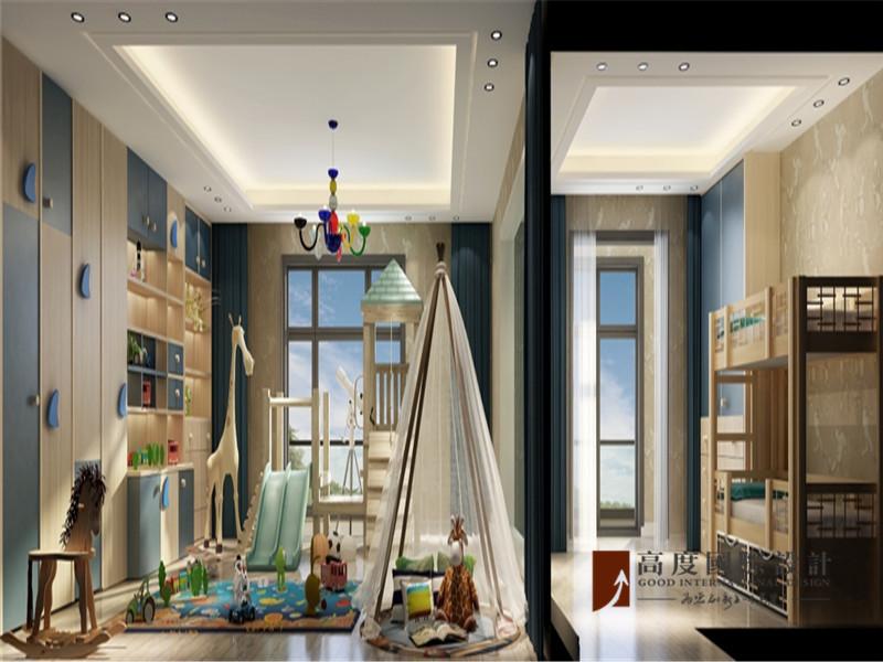 简约 别墅 80后 小资 大户型 高帅富 儿童房图片来自高度国际姚吉智在格拉斯小镇350㎡现代简单不落俗的分享