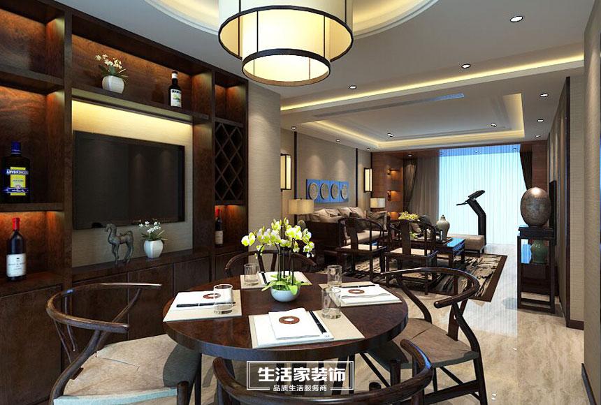 新中式 小资 三居 生活家装饰 装修预算 餐厅图片来自合肥生活家装饰许欣在格调高雅148平新中式风格的分享