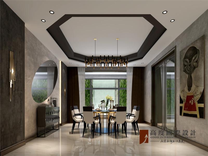 简约 别墅 80后 小资 大户型 高帅富 餐厅图片来自高度国际姚吉智在格拉斯小镇350㎡现代简单不落俗的分享