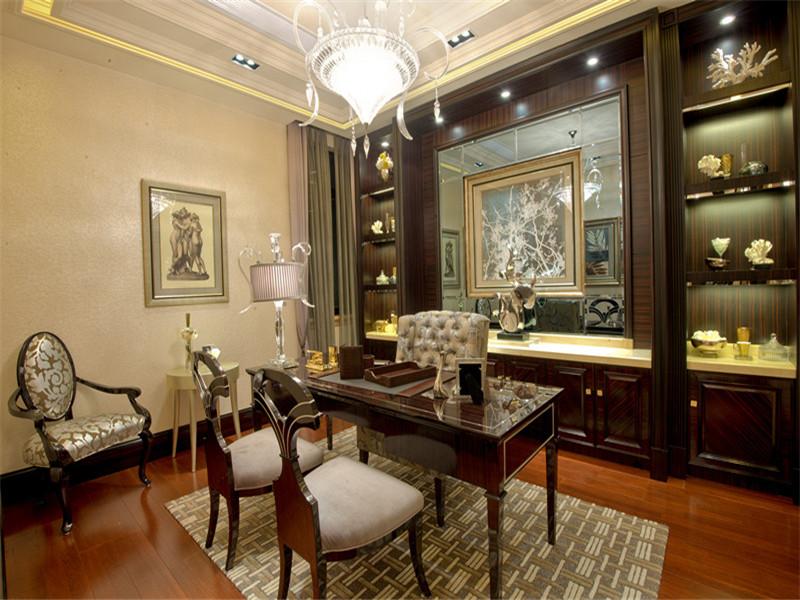欧式 三居 四居 大户型 小资 80后 书房图片来自高度国际姚吉智在167平米欧式四居彰显优雅不凡的分享