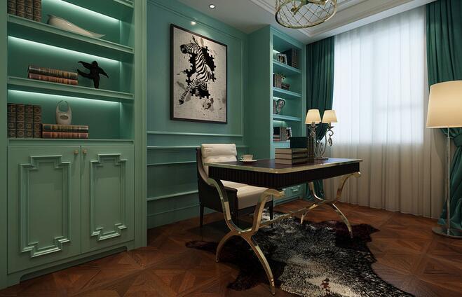 欧式 三居 白领 收纳 旧房改造 80后 小资 书房图片来自乐粉_20160927144235439在福星惠誉红桥城-欧式风格的分享