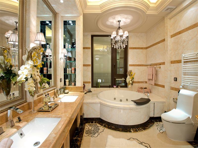欧式 三居 四居 大户型 小资 80后 卫生间图片来自高度国际姚吉智在167平米欧式四居彰显优雅不凡的分享