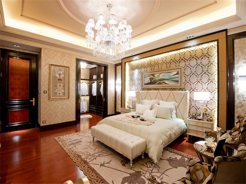 欧式 三居 四居 大户型 小资 80后 卧室图片来自高度国际姚吉智在167平米欧式四居彰显优雅不凡的分享
