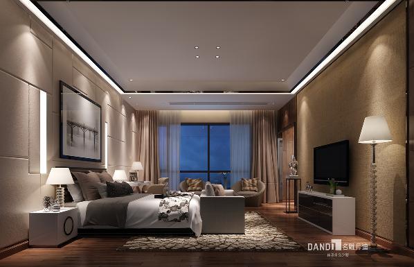 卧室空间表达都市新贵对于繁华与质雅的思考,浮华过后终归寻求自我的沉静。