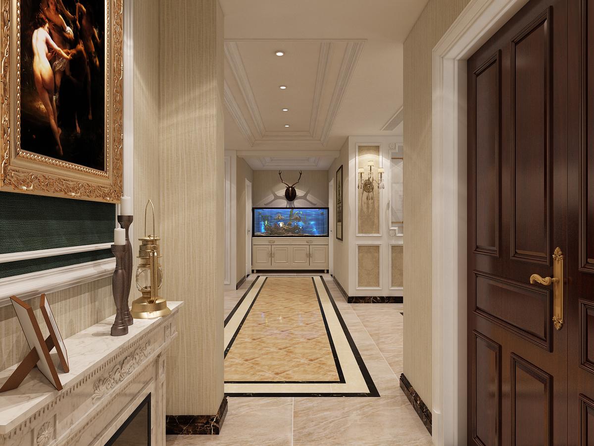 玄关 挂画 储物柜 玄关图片来自石家庄大业美家装饰在大业美家—远见200平简欧风格的分享