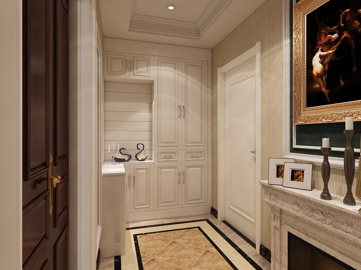 玄关 鞋柜 玄关图片来自石家庄大业美家装饰在大业美家—远见200平简欧风格的分享