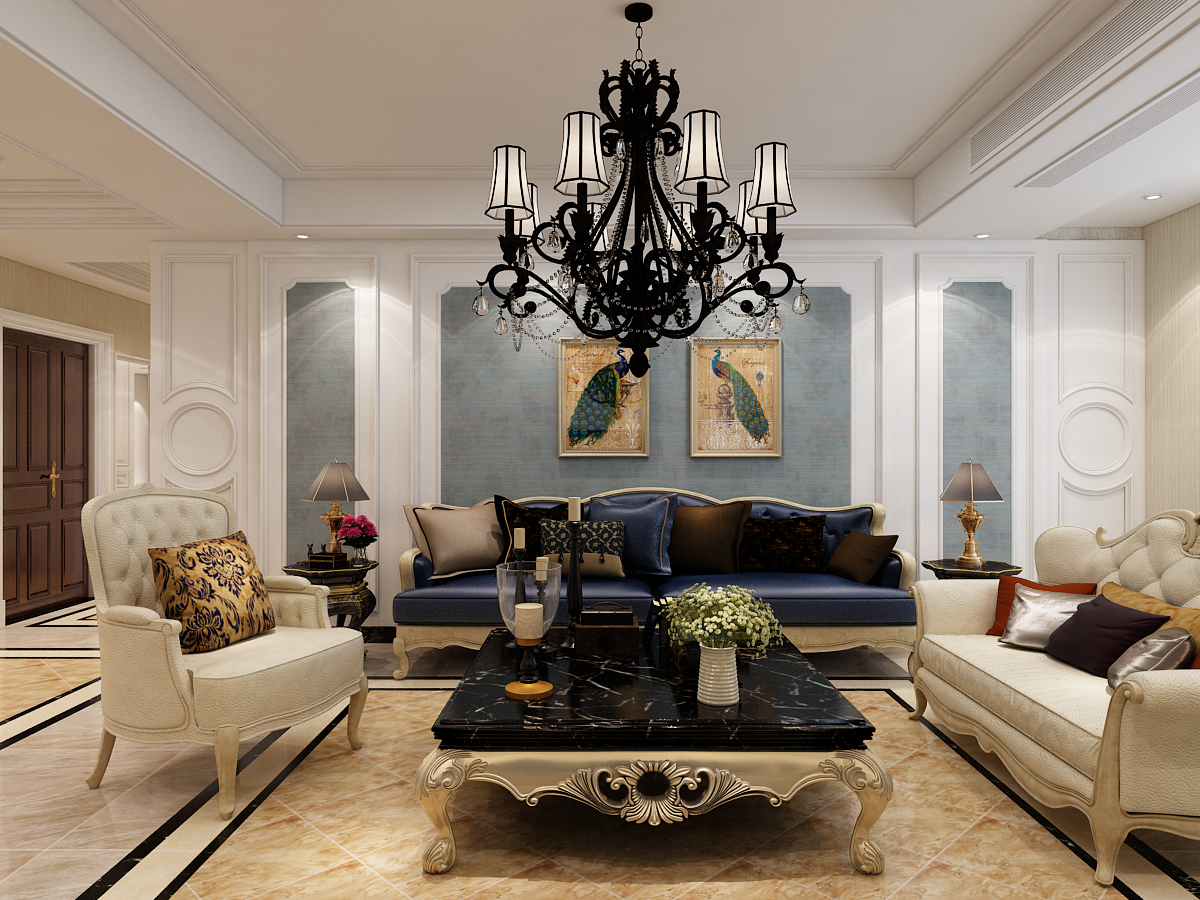 客厅 吊顶 客厅图片来自石家庄大业美家装饰在大业美家—远见200平简欧风格的分享