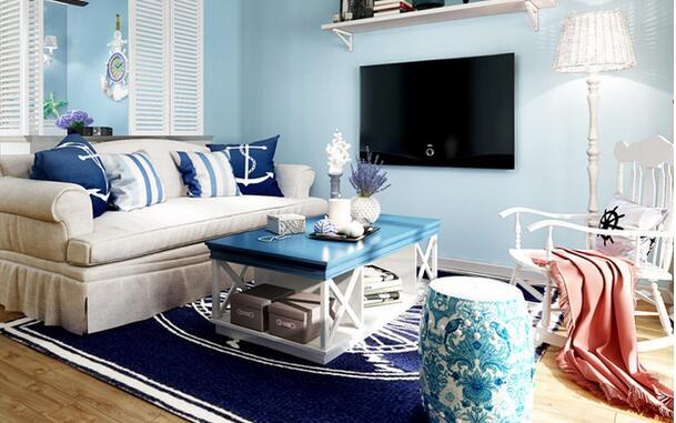 地中海 二居 白领 收纳 旧房改造 80后 小资 客厅图片来自乐粉_20160927144235439在融科天域88平地中海风格的分享