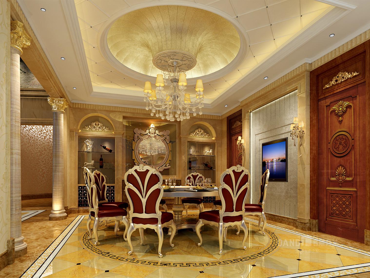 欧式 餐厅图片来自名雕丹迪在白垤里嘉园1000平欧式风格的分享