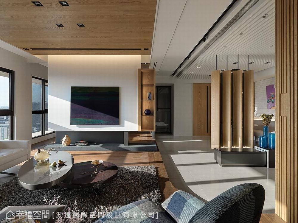 三居 现代 客厅图片来自幸福空间在客制新婚宅165平馨暖幸福想象的分享