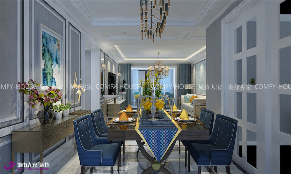 凤凰国际 装修设计 餐厅图片来自济南城市人家装修公司-在凤凰国际装修|凤凰国际效果图的分享