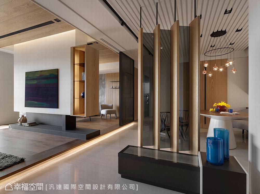 三居 现代 玄关图片来自幸福空间在客制新婚宅165平馨暖幸福想象的分享