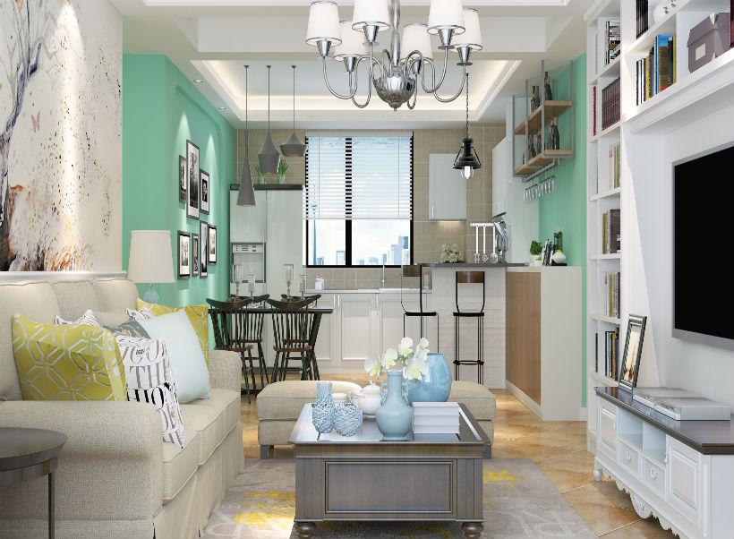 客厅图片来自石家庄大业美家装饰在盛邦138平—现代简约风格的分享