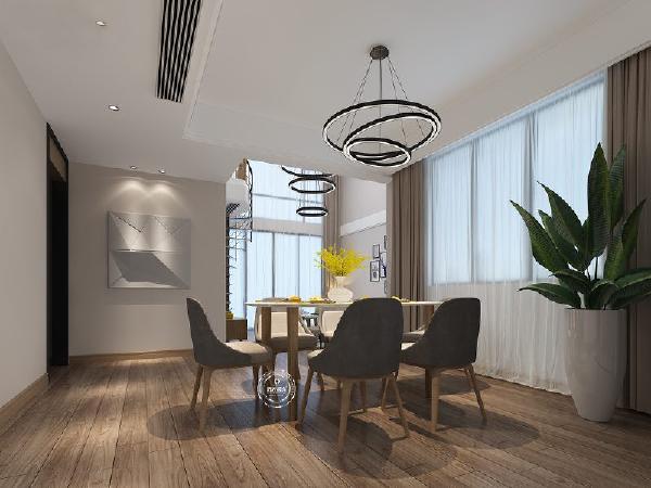 顶灯与客厅灯相呼应,使空间与空间之间增加了共性;入户的创意挂画成为一大亮点。