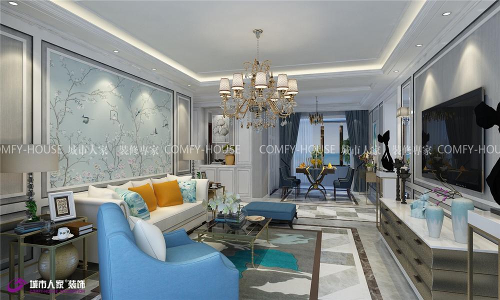 凤凰国际 装修设计 客厅图片来自济南城市人家装修公司-在凤凰国际装修 凤凰国际效果图的分享