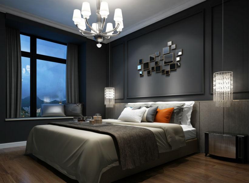 卧室图片来自石家庄大业美家装饰在众美绿都90平—后现代风格的分享
