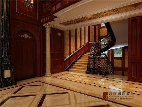 美式 别墅 小资 大户型 80后 高帅富 楼梯图片来自高度国际姚吉智在温哥华森林420㎡美式忠于品位的分享