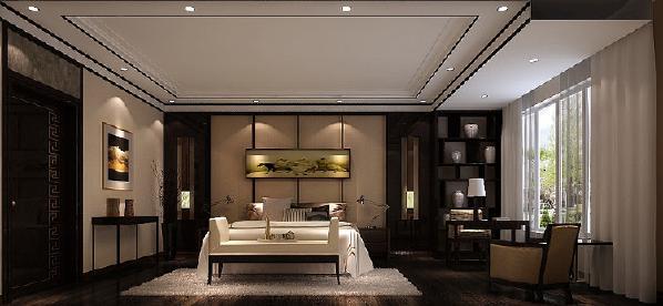 中式家具和饰品或颜色较深,或艳丽,你在安排它们时需要对空间的整体色彩进行通盘考虑。