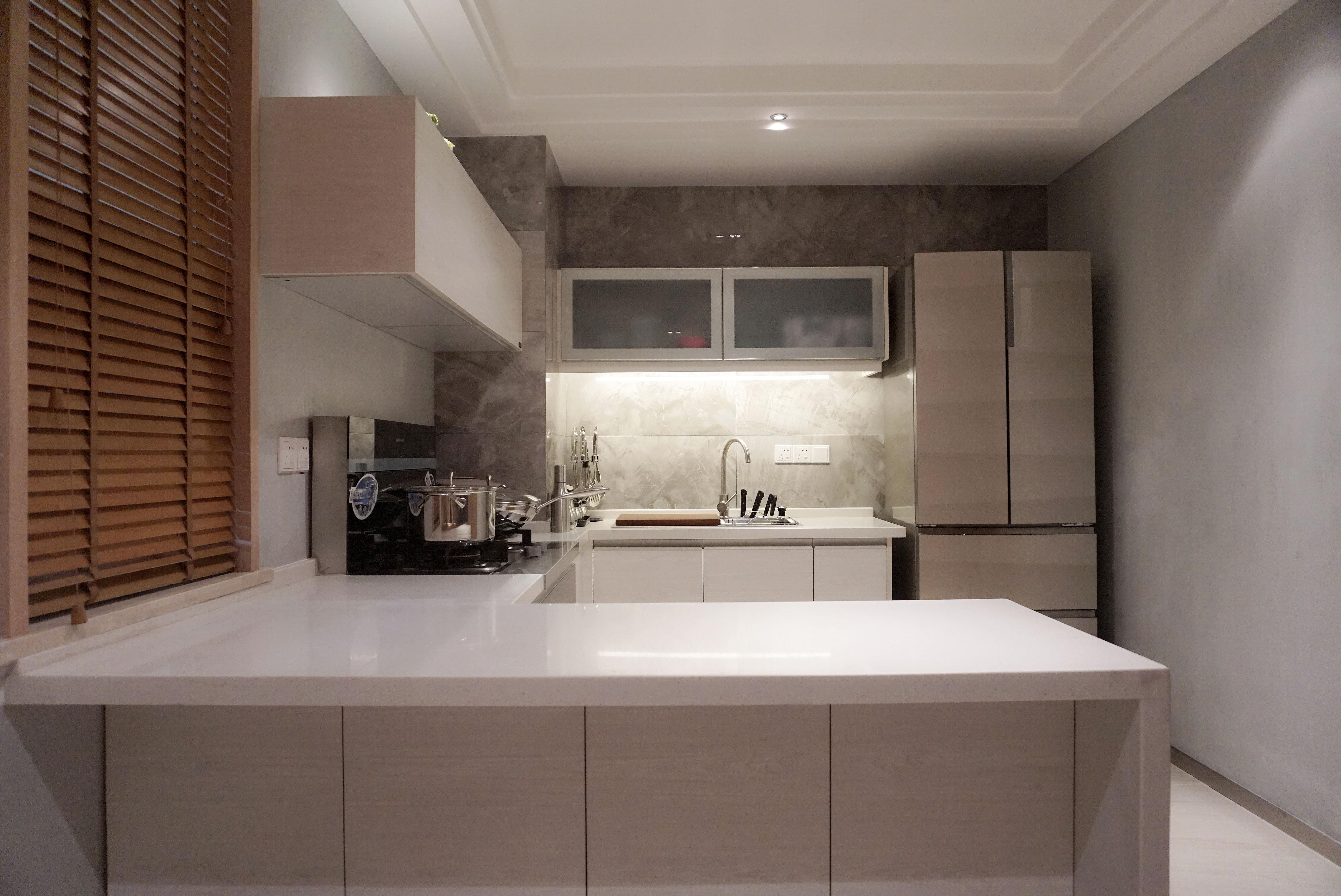 简约 二居 收纳 80后 小资 天汇设计 新中式 禅意中式 厨房图片来自游小华在《朴居》的分享