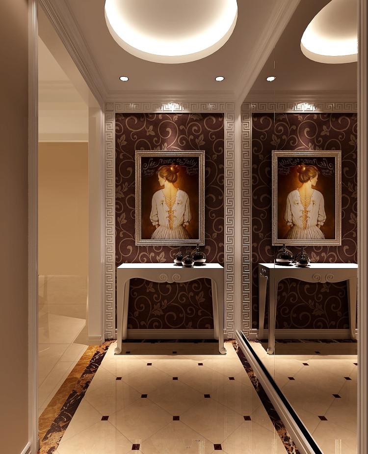 现代 三居 白领 收纳 80后 小资 高度国际 别墅装修 玄关图片来自重庆高度国际装饰工程有限公司在金辉城江城著190平简约三居的分享