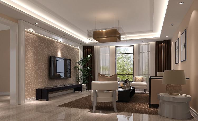 现代 三居 白领 收纳 80后 小资 高度国际 别墅装修 客厅图片来自重庆高度国际装饰工程有限公司在金辉城江城著190平简约三居的分享