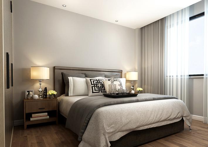 三居 格林玫瑰湾 现代风格 卧室图片来自百家设计小刘在格林玫瑰湾118平现代风格半包4万的分享