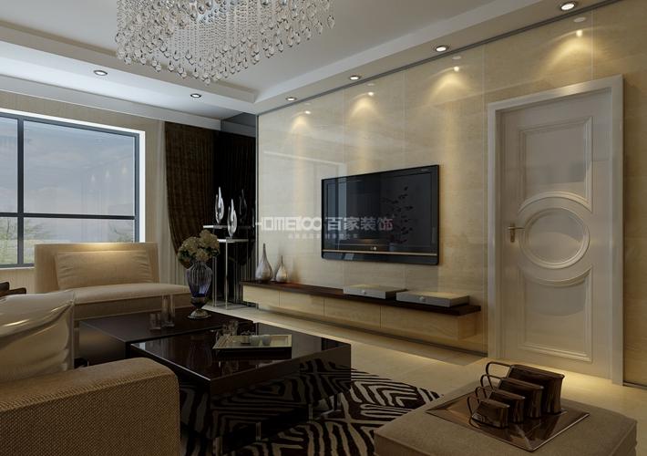 三居 格林玫瑰湾 现代风格 客厅图片来自百家设计小刘在格林玫瑰湾118平现代风格半包4万的分享