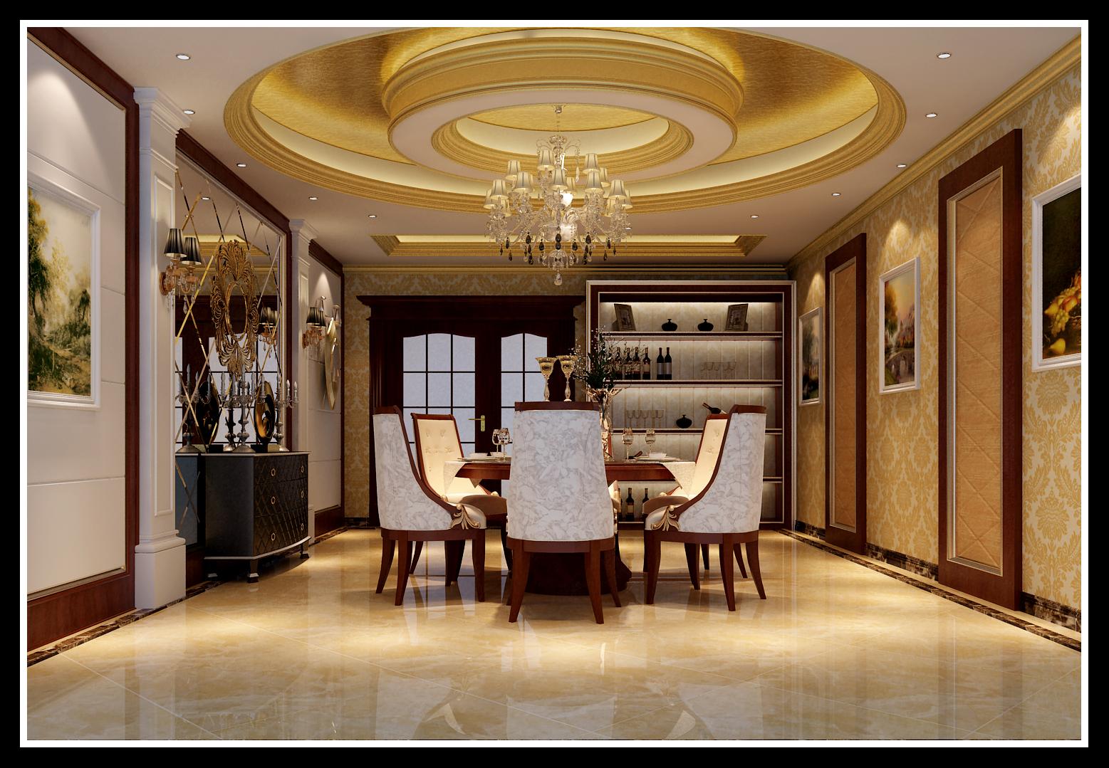 餐厅 餐厅图片来自石家庄大业美家装饰在藁城自建别墅—豪华欧式风格的分享
