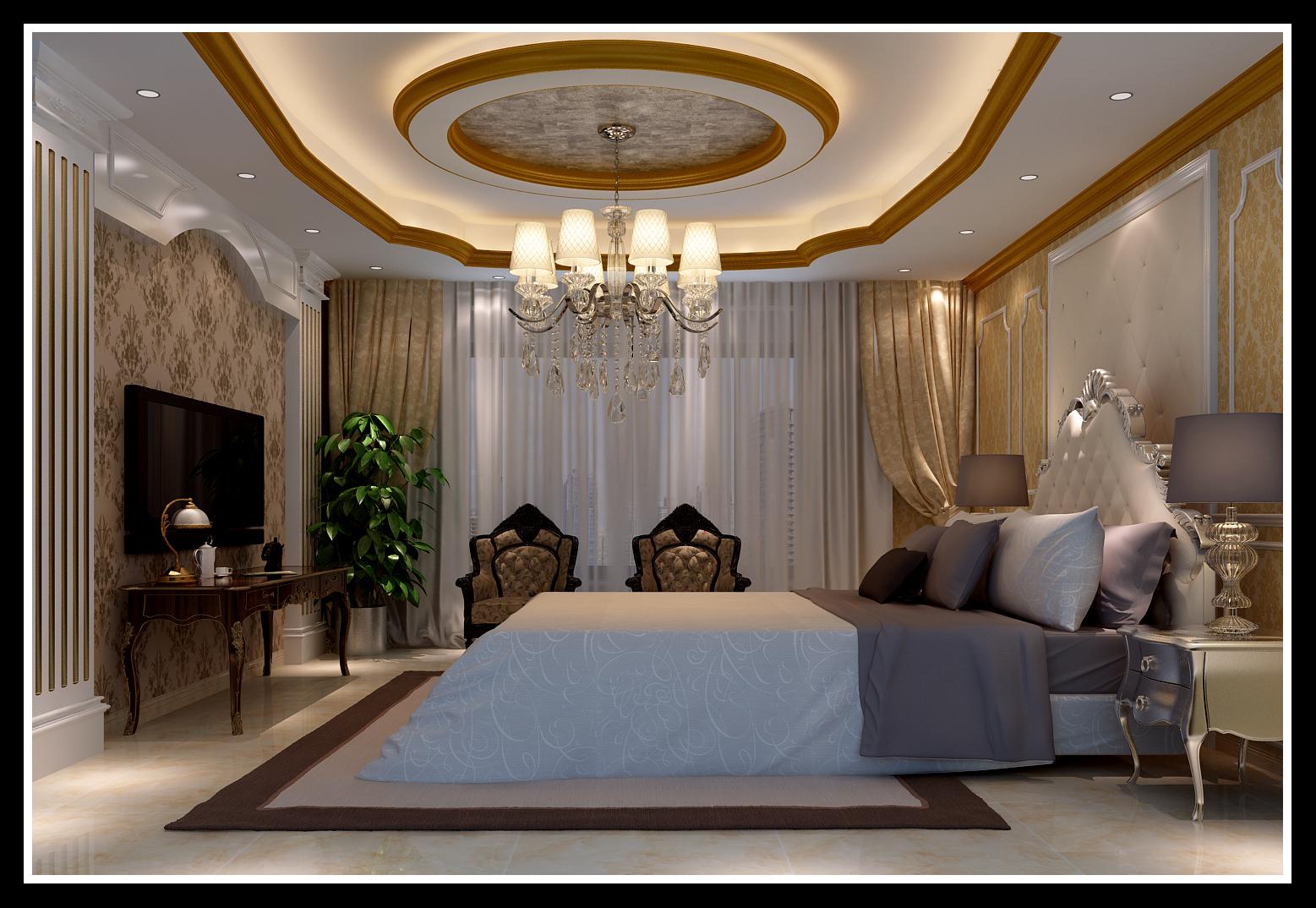 卧室 卧室图片来自石家庄大业美家装饰在藁城自建别墅—豪华欧式风格的分享