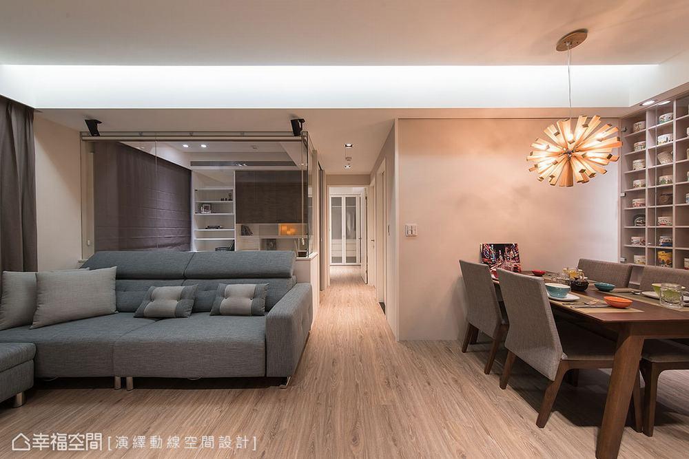 三居 混搭 北欧 客厅图片来自幸福空间在工作和生活兼得 73平北欧混搭宅的分享