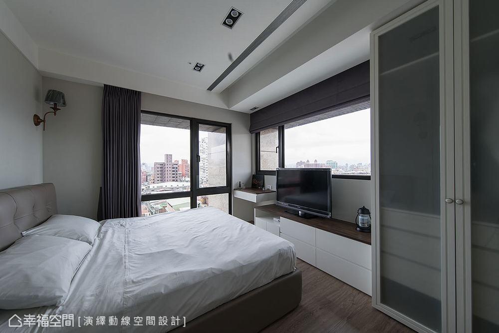 三居 混搭 北欧 卧室图片来自幸福空间在工作和生活兼得 73平北欧混搭宅的分享