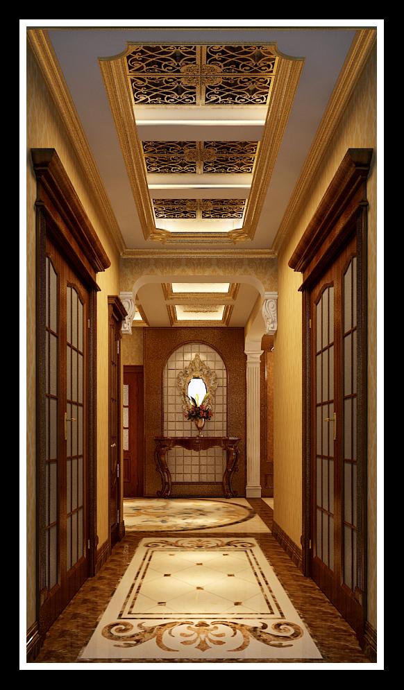 玄关 玄关图片来自石家庄大业美家装饰在藁城自建别墅—豪华欧式风格的分享