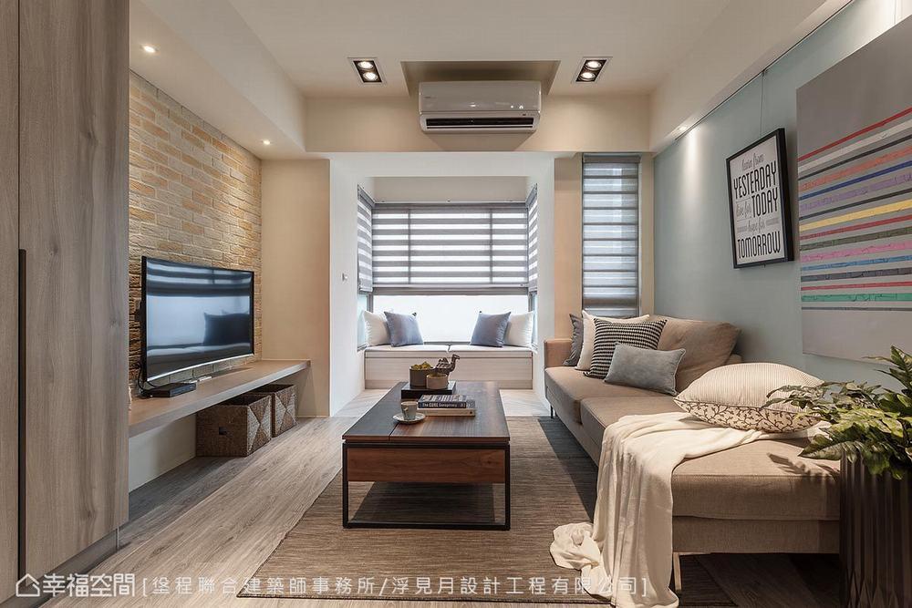 三居 休闲 客厅图片来自幸福空间在春色无边 63平蓝紫黄慵懒之美的分享