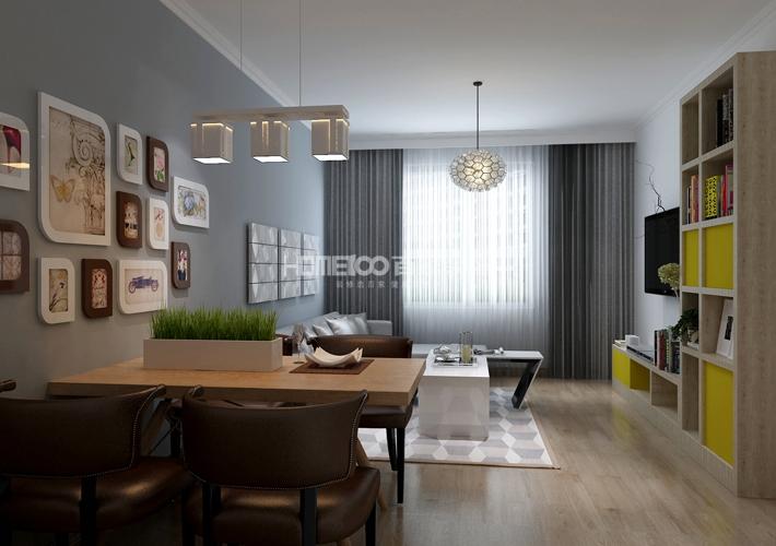 二居 格林玫瑰湾 现代风格 餐厅图片来自百家设计小刘在格林玫瑰湾91平现代风格的分享