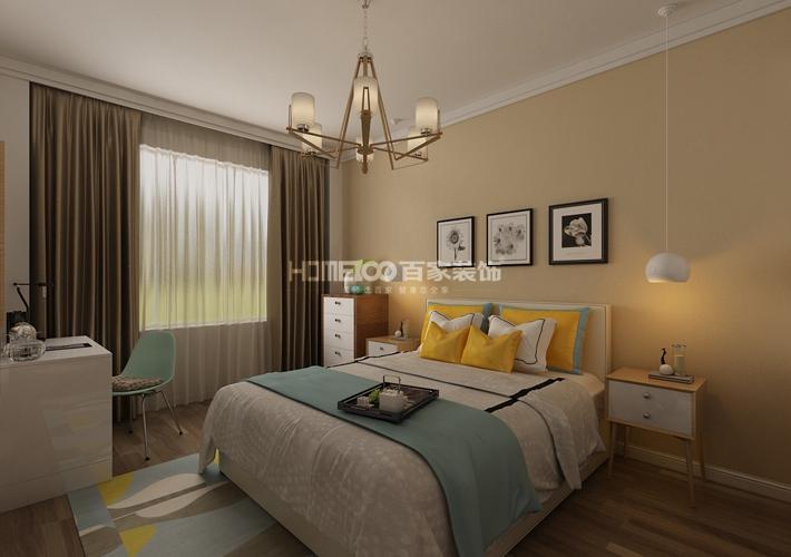二居 格林玫瑰湾 现代风格 卧室图片来自百家设计小刘在格林玫瑰湾91平现代风格的分享