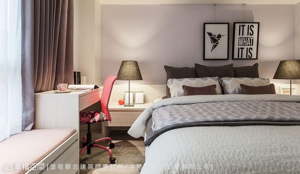 三居 休闲 卧室图片来自幸福空间在春色无边 63平蓝紫黄慵懒之美的分享