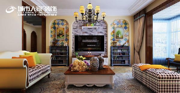 客厅作为待客区域,一般要求简洁明快,同时装修较其它空间要更明快光鲜,通常使用大量的石材和木饰面装饰,这样整体感觉上就很气派。