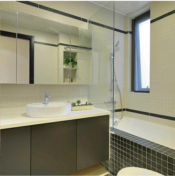 天下玉苑150平—现代简约风格—卫生间装修效果图
