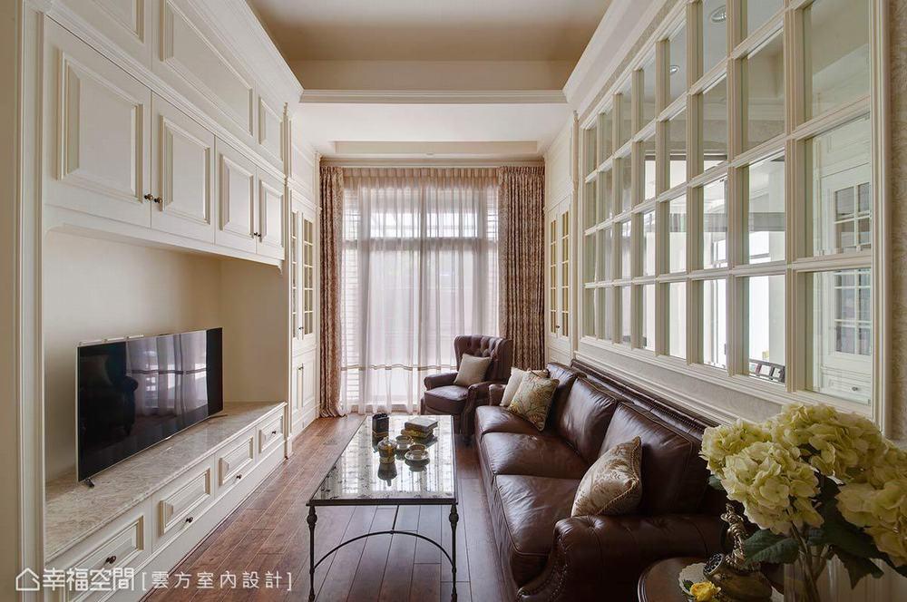 四居 古典 客厅图片来自幸福空间在敞朗新貌 132平古典悠扬气场的分享