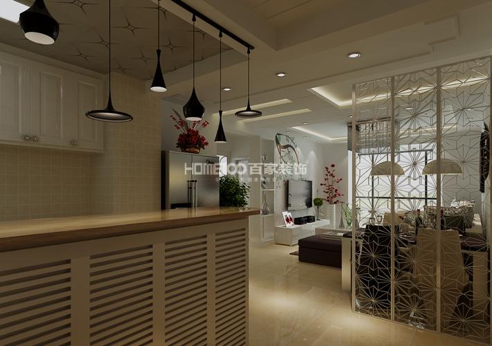 二居 格林玫瑰湾 现代风格 客厅图片来自百家设计小刘在格林玫瑰湾91平现代风格的分享