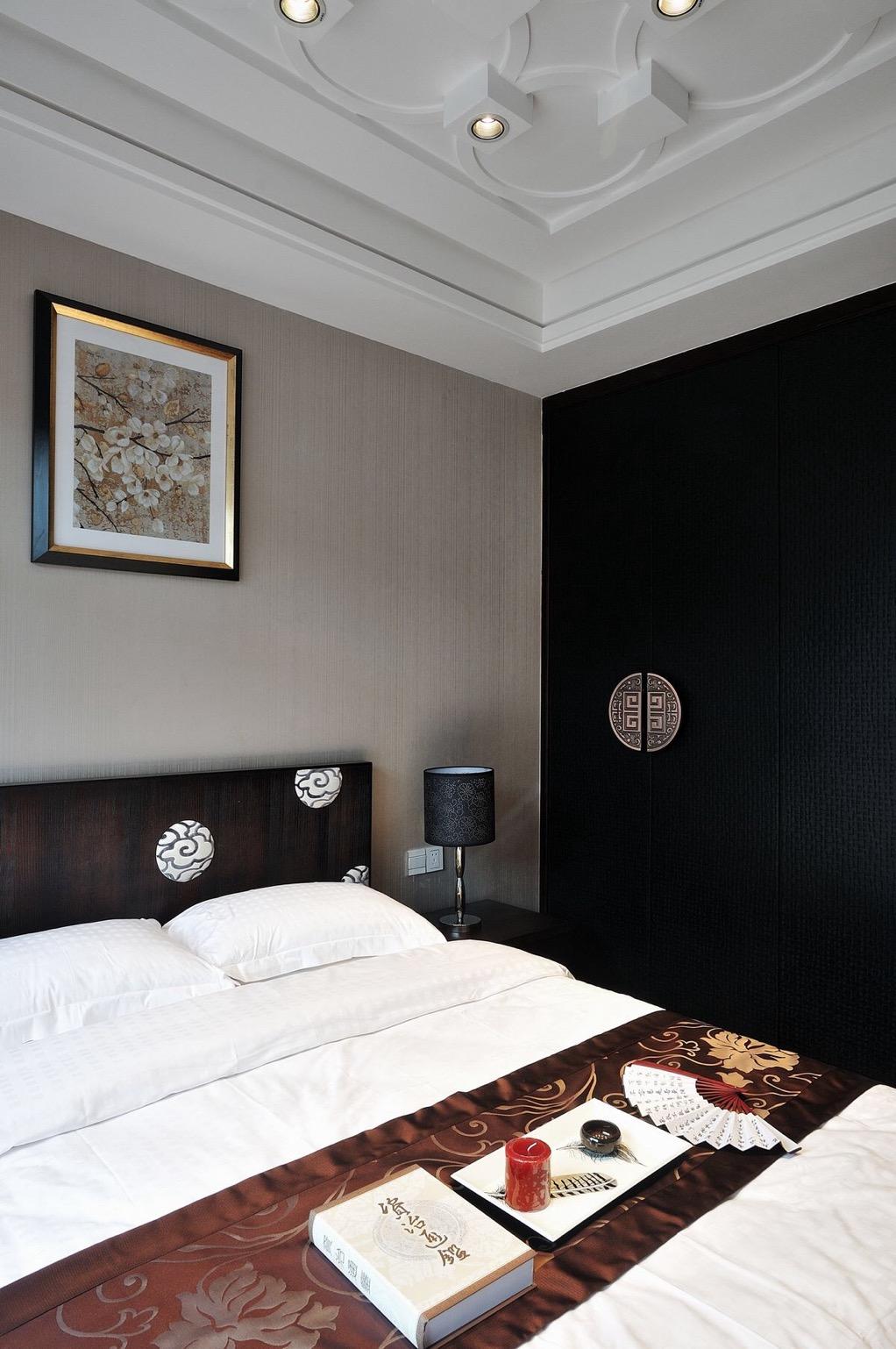 卧室图片来自石家庄大业美家装饰在元氏天山水榭花都—印象中国风的分享