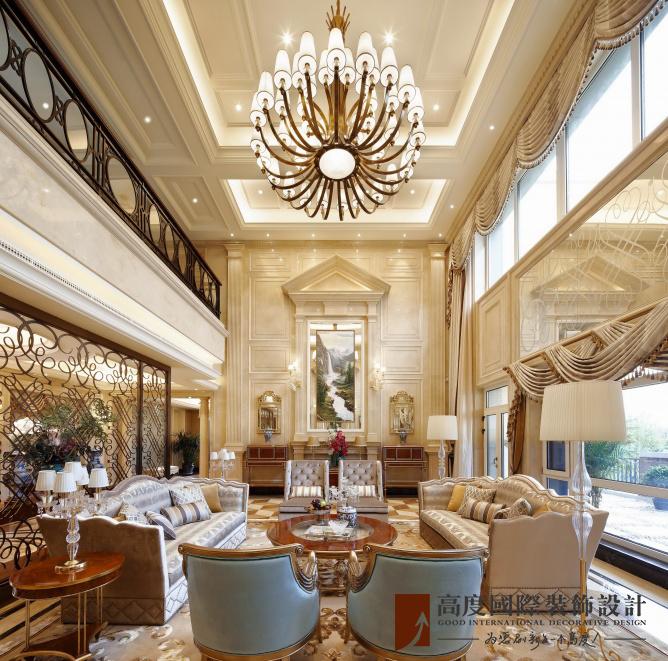 混搭 高度国际 别墅 融创白象街 别墅装修 客厅图片来自重庆高度国际装饰工程有限公司在豪华装修时尚范十足的分享